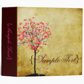 PixDezines Vintage Maple Tree 3 Ring Binder