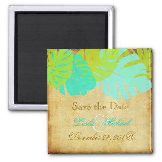 PixDezines Vintage Monstera, Save the Date Magnet