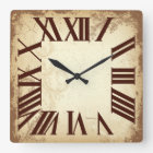 PixDezines Vintage Old English clock