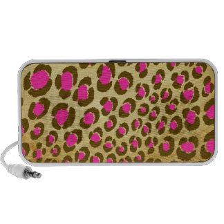 PixDezines Vintage Pink Leopard Print ♥♥♥♥ Mini Speakers