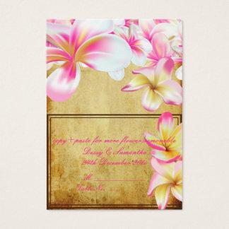 PixDezines vintage pink plumeria/tent place card