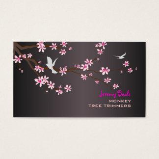 PixDezines vintage/pink sakura tree trimmers ♥♥♥ Business Card