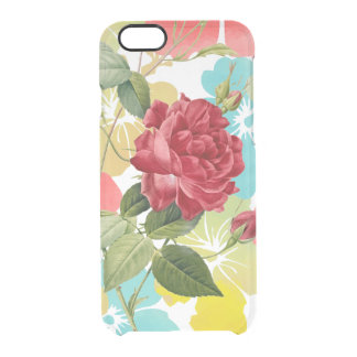 PixDezines Vintage Red Roses Clear iPhone 6/6S Case