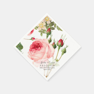 PixDezines Vintage Roses/Botanical Art Napkin