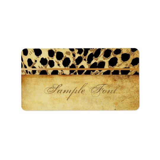 PixDezines vintage safari/cheetah