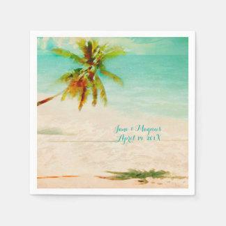 PixDezines Vintage Tropical Beach Paper Napkin