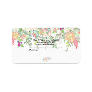 PixDezines Watercolor Floral/Peach+Mint Peonies