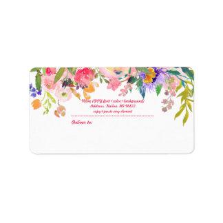 PixDezines Watercolor Floral/Peonies Label