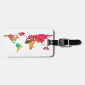 PixDezines watercolor/world map/DIY background Luggage Tag
