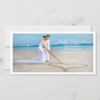 PixDezines wedding photo thank you/DIY background Thank You Card