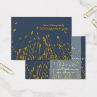PixDezines wheat grass/golden rod/DIY background Business Card