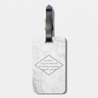 PixDezines White Marble Bag Tag
