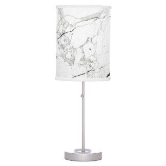 PixDezines WHITE MARBLE Desk Lamps