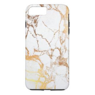 PixDezines WHITE MARBLE+FAUX GOLD VEINS iPhone 8 Plus/7 Plus Case
