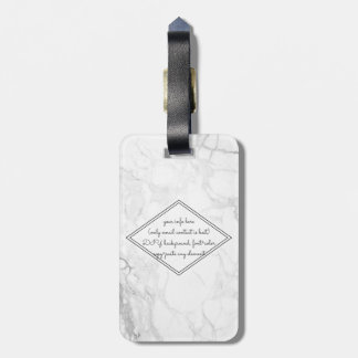 PixDezines White Marble Luggage Tag