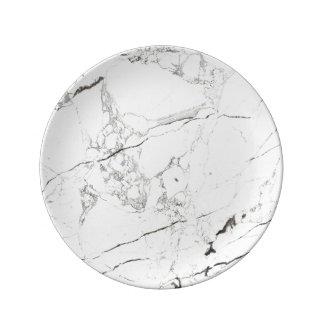PixDezines WHITE MARBLE Plate