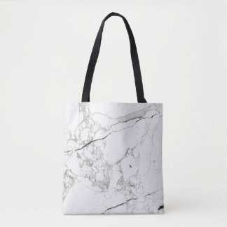 PixDezines WHITE MARBLE Tote Bag
