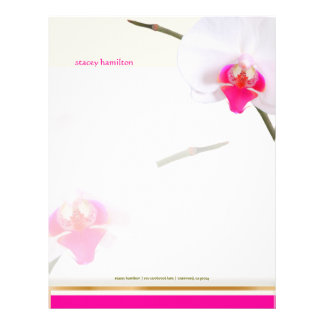 PixDezines White Orchid 2 | Perfect Bride Letterhead