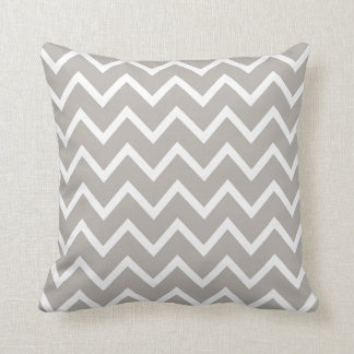 PixDezines whte chevron/diy color Throw Pillow