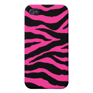 PixDezines Zebra , Black+Hot Pink iPhone 4 Covers