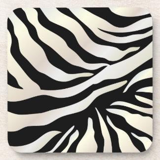 PixDezines Zebra print/DIY colors Drink Coasters