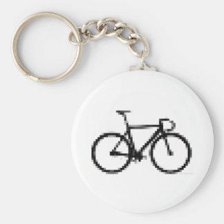Pixed Gear Basic Round Button Keychain