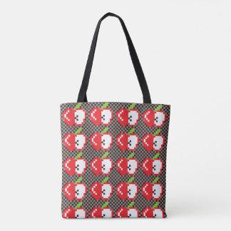 Pixel Apples Tote Bag