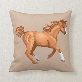 Pixel Arabian Horse Pillow