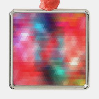 pixel art 1 metal ornament