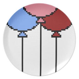 Pixel Art Balloons Plate