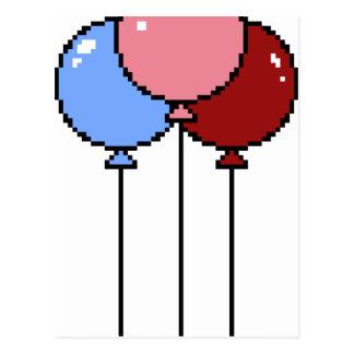 Pixel Art Balloons Postcard