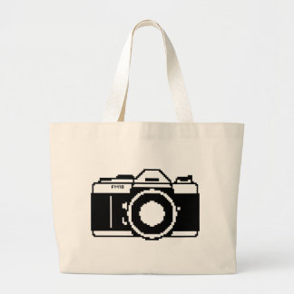 Pixel Art Camera Tote Bag