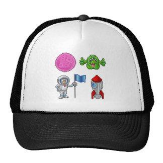 Pixel Art Cartoon Space Set Trucker Hat