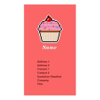 Pixel Art Cupcake Business Card