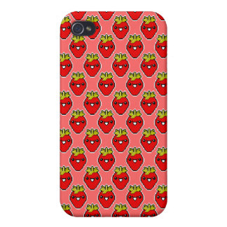 Pixel Art Cute Strawberry Speck Case iPhone 4 Cover