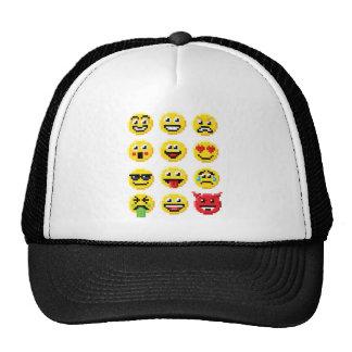 Pixel Art Emoji Emoticon Set Trucker Hat