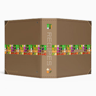 "Pixel Art Fruit & Vegetables 2"" Recipe Binder"