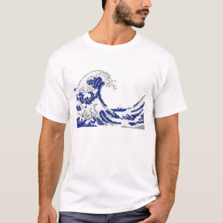 Pixel art great wave T-Shirt