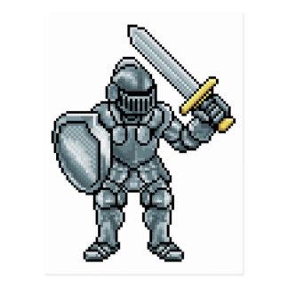 Pixel Art Knight Postcard