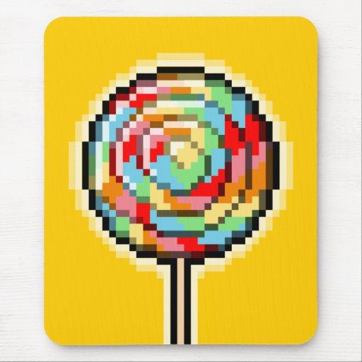 Pixel Art Lollipop Candy Mousepad | Zazzle