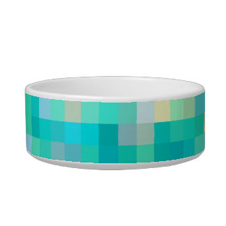 Pixel Art Multicolor Pattern Bowl