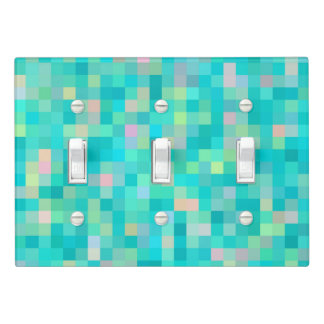 Pixel Art Multicolor Pattern Light Switch Cover