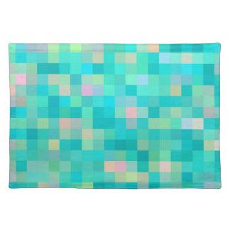 Pixel Art Multicolor Pattern Placemat