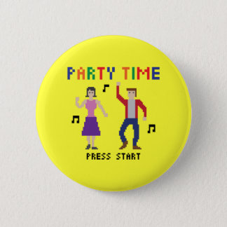 Pixel Art Party Time Button