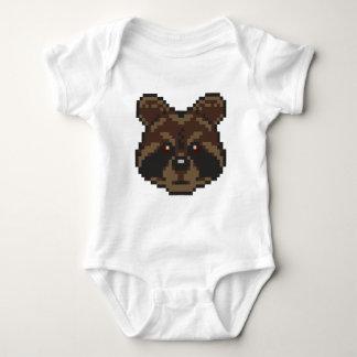 Pixel-Art Raccoon Baby Bodysuit