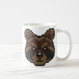 Pixel-Art Raccoon Coffee Mug