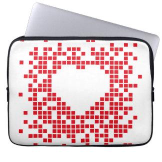 Pixel art red retro heart laptop sleeve