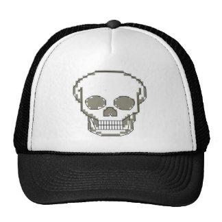 Pixel art skull trucker hat