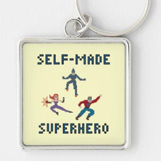 Pixel Art Superheroes Keychain