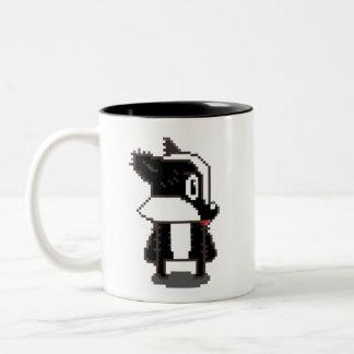 Pixel Badger Two-Tone Coffee Mug